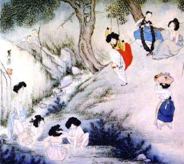 A work of Sin Yun-bok, illustrating scenery