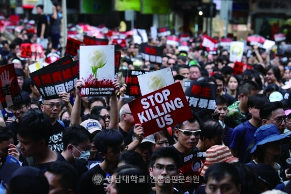On 16 June, two million citizens demonstrate in downtown Hong Kong.(Provided by Pressian Coop)